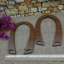 Ahşap Desenli Çanta Sapları - Kahverengi