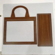 Ahşap Desenli Çanta Sapları
