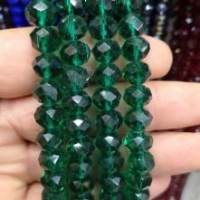10 mm Kristal Boncuk çin camı zümrüt yeşili janjanlı