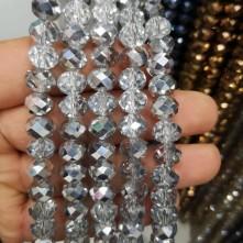 10 mm Kristal Boncuk çin camı aynalı gümüş