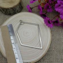 Geometrik 5 Köşe Figürlü Reçine Metal Kolye Ucu