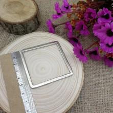 Kare Gümüş Model 5.5 cm Metal Kolye Ucu