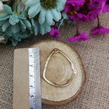 Oval Üçgen Delikli Model Reçine Metal Kolye Ucu
