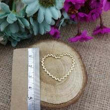Kalp Tırtıklı Model Kulplu Reçine Metal Kolye Ucu