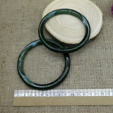 Reçine Görünümlü Çanta Sapı - Yeşil