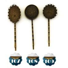 Reçine Metal Kolye Ucu - Desnli Eskitme Kaşık Modeli