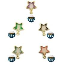 Reçine Metal Kolye Ucu - Renkli Yıldız