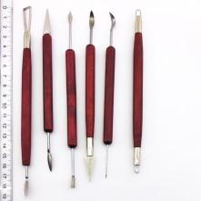 Çift taraflı modelaj seramik alet seti 6 parça