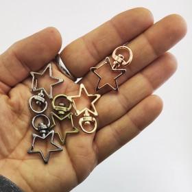 Metal Çanta Kanca Halka Yıldız Renk Seçmeli
