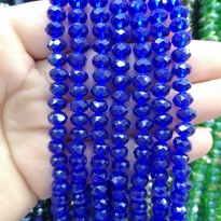 8 mm Kristal Boncuk Çin Camı şeffaf açık saks