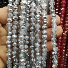 8mm Kristal Boncuk Çin Camı aynalı gümüş