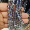 8mm Kristal Boncuk Çin Camı janjan indigo mavi