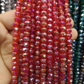 8mm ipe dizili Kristal Boncuk Çin Camı janjan kırmızı