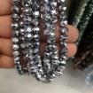 8 mm dizi Kristal Boncuk Çin Camı kaplama gümüş