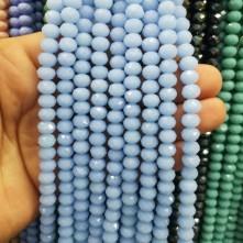 8 mm ipe dizi kristal boncugu çin camı mat buz bebe mavi