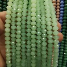 8 mm ipe dizi kristal boncugu çin camı mat buz yeşili