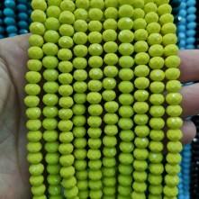 8 mm ipe dizi kristal boncugu çin camı mat kanarya sarısı