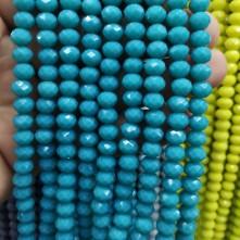 8 mm İpe Dizili kristal boncuk çin camı Mat turkuaz mavi