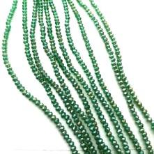 2mm ipe dizili Kristal Boncuk -çin camı janjan zümrüt yeşil