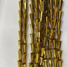 8*16 mm Deve Tabanı Damla Kristal Kaplama Gold