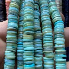 Doğal Sedef Pul Taş - Mavi