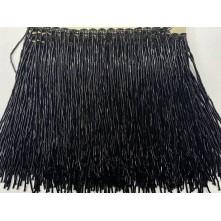 Boru Boncuklu 15 cm Püskül Saçak Siyah