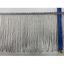 Boru Boncuklu 15 cm Püskül Saçak Gümüş