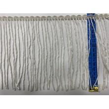 Boru Boncuklu 15 cm Püskül Saçak Beyaz