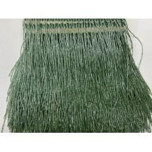 Boru Boncuklu 15 cm Püskül Saçak Yeşil