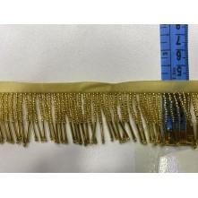 5 cm Boru Ve Kum Boncuk Saçak Altın