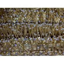 5 cm İncili Pullu Boncuk Saçak Altın