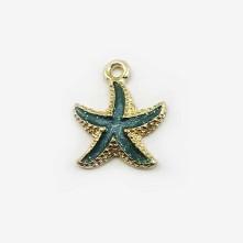 Mineli Metal Kolye Uçları Deniz Yıldızı Tırtıklı Renk Seçmeli Hobi el