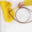 Bohem Ayna Malzemeleri seti - Ahşap Göz Kasnak kağıt ip ahşap çubuklar