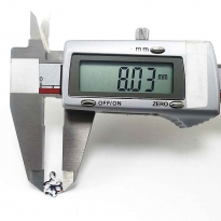 Pleksi pul içi boş papatya modeli 8x12 mm