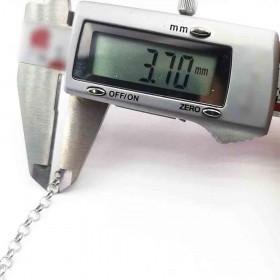 Kolye Zinciri Gümüş Kaplama 3.70mm