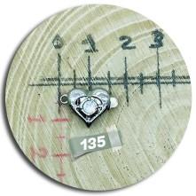 Kalp Tek Taşlı Model Geçmeli Takı Klipsi