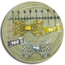 Fiyonk Motif Gold & Gümüş Model Geçmeli Takı Klipsi