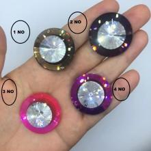 Kristal Taş Yuvarlak 30 mm Delikli