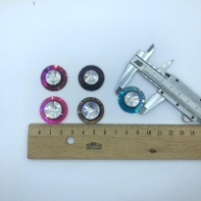 Kristal Taş Yuvarlak 25 mm Delikli