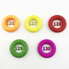 Üzeri Boyalı Ahşap Halka 2.5 cm Renk Seçmeli