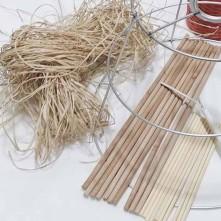 Bambu çubuk - 7 mm x 32 cm ebatlarında