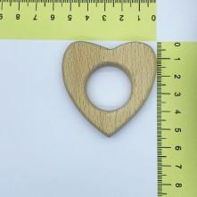 Ahşap Diş Kaşıyıcı Kalp