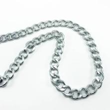 Alüminyum Takı Ve Çanta - Yassı taşlanmış geniş zincir