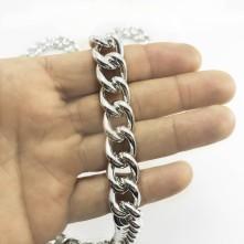 Alüminyum Takı Ve Çanta - 14 mm halka zincir-nikel gümüş