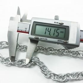 Çoklu geçmeli zincir nikel gümüş  - Takı Ve Çanta