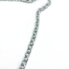 Pütürlü halka zincir nikel gümüş - Takı Ve Çanta zincir