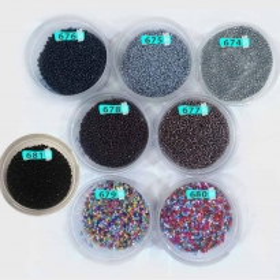 Kum Boncuk Karışık Renkli ve Siyah Tonları