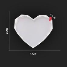 Köşeli Kalp Reçine Epoksi Kalıbı Kalp Şekli - 31