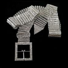 Taşlı Kemer - Kare Gümüş Tokalı