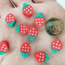 Mini Emaye Hamur Sİlikon Meyve Parçacıkları - Kırmızı Çilek